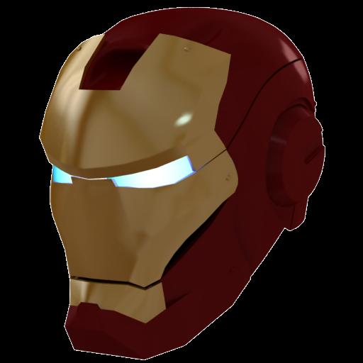 Ironman Mask Gold Icon Iron Man Iconset Aha Soft