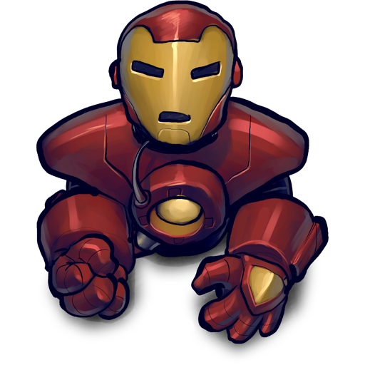 Blackred Ironman Icon Free Search Download As Png