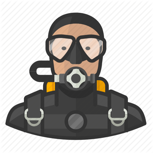 Diver, Man, Scuba Icon
