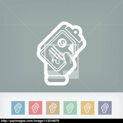 Money Document Icon Vector