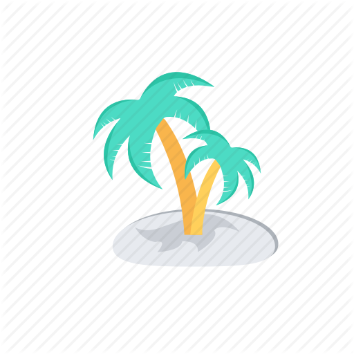 Beach Party, Island, Island Paradise, Palm Trees, Tropical Island Icon