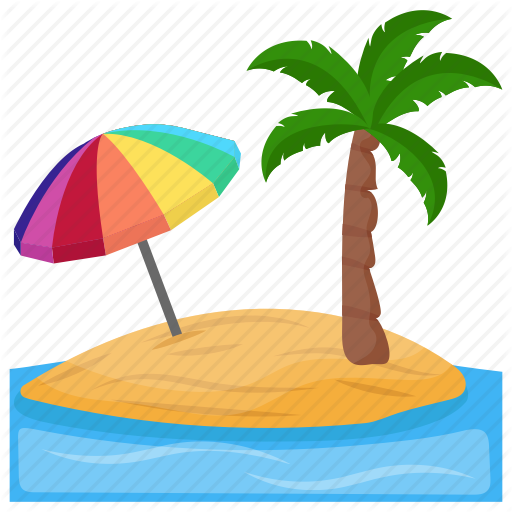 Destination, Island, Palm Trees, Paradise, Tropical Island Icon
