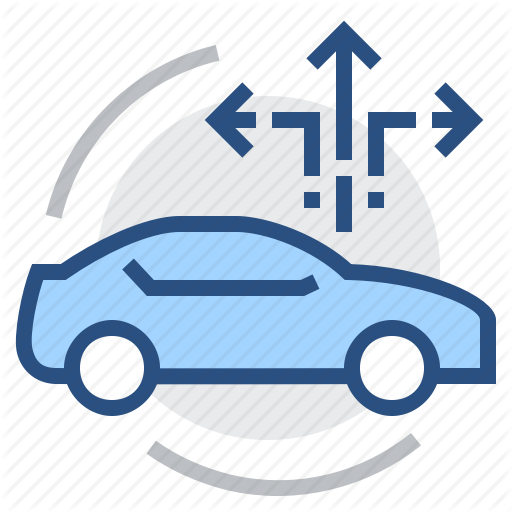 Car, Driving, Guide, Itinerary, Navigation, Piloting, Route Icon