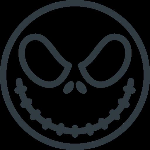 Holyday, Halloween, Jack, Skellington, Mask, Head Icon Free