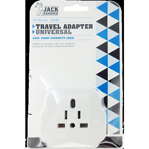 Jack Hammer Travel Adapter Universal Single