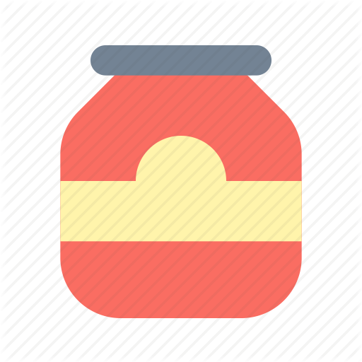 Bottle, Glass, Jam Icon