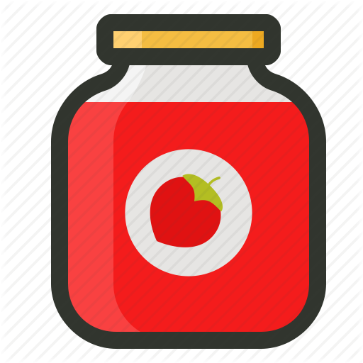Breakfast, Jam, Jam Jar, Strawberry Jam Icon