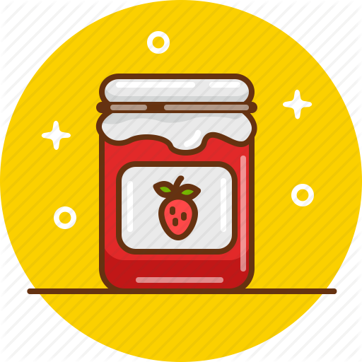 Confiture, Jam, Jar, Marmelade, Strawberry, Strawberry Jam Icon