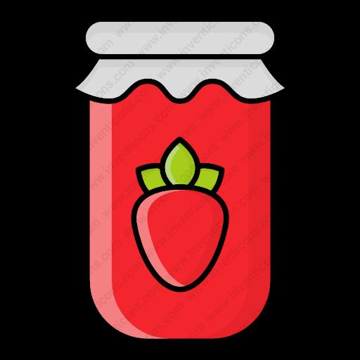 Download Autumn,fall,jam,jar,jelly,season,strawberry Icon
