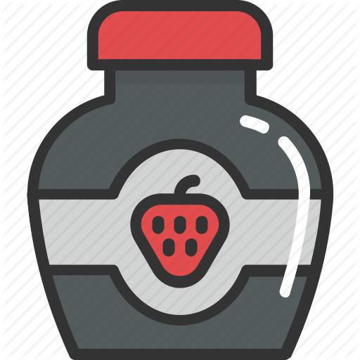 Food, Jam Jar, Jar, Marmalade, Strawberry Jam Icon