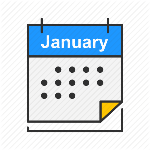 Calendar, Events, January, Month Icon