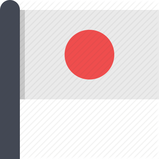 Asia, Country, Flag, Japan Icon