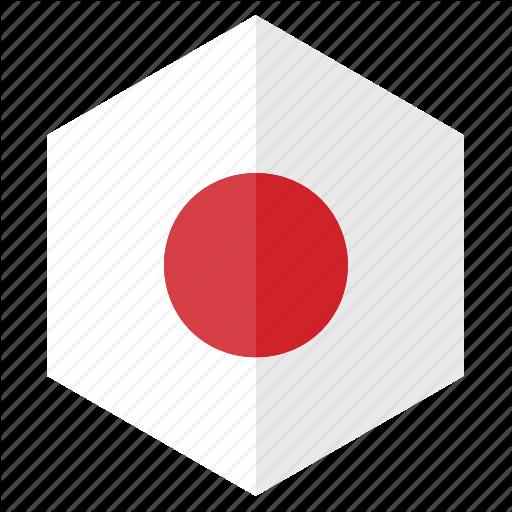 Asia, Country, Design, Flag, Hexagon, Japan Icon
