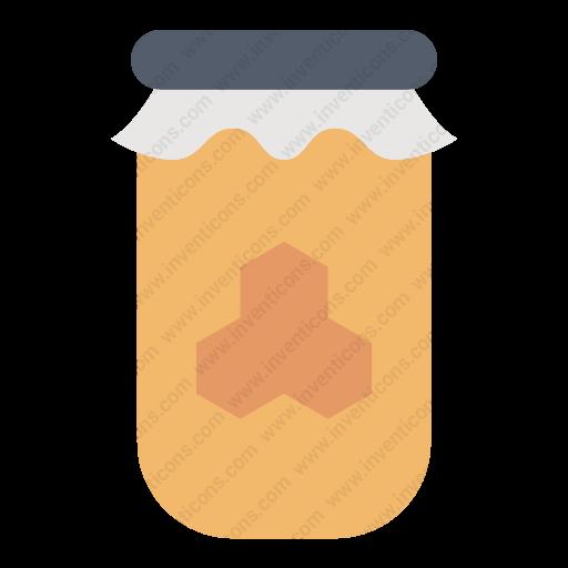 Download Honey,jarkitchenware,jar Icon Inventicons