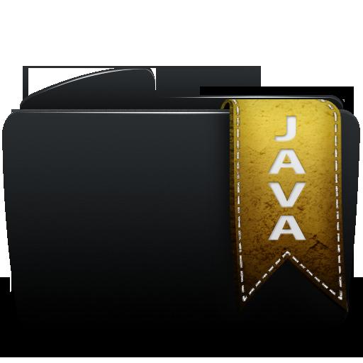 Black, Folder, Java Icon