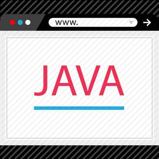 Browser, Code, Java, Program Icon