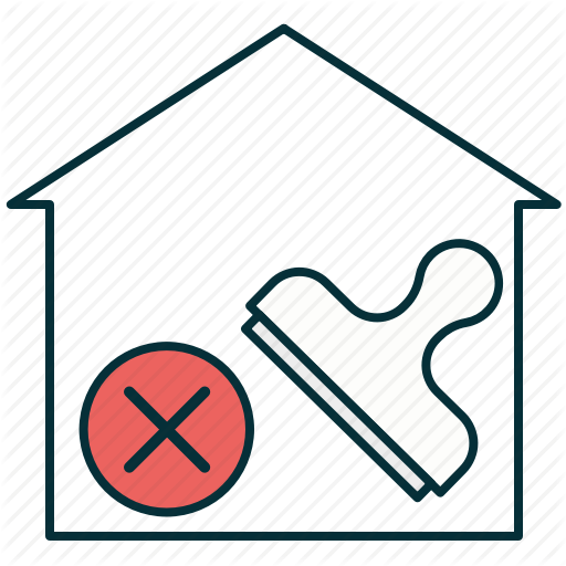 Denied Mortgage, House, Mortgage, Refused Mortgage, Renouncement Icon