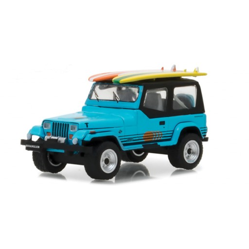 Jeep Wrangler Yj Surfboard Scale Diecast Model