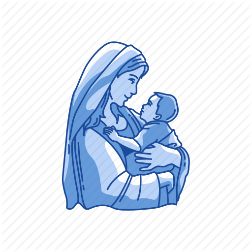 Baby, Baby Jesus, Mother And Child, Mother Mary Icon