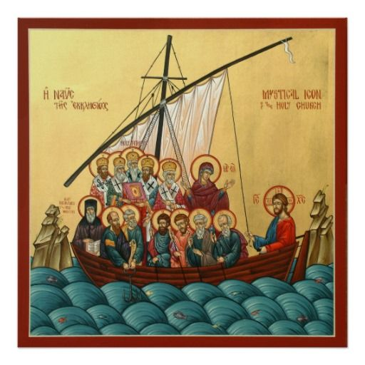 Mystical Icon Of The Holy Church Poster Orthodox
