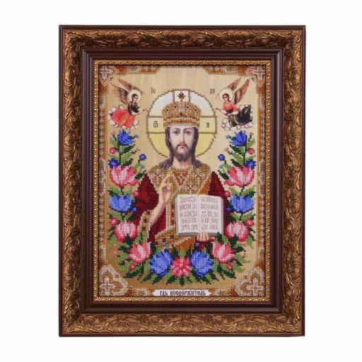 Orthodox Icon Lord Jesus Beaded Embroidery Kit Diy Beading Beads