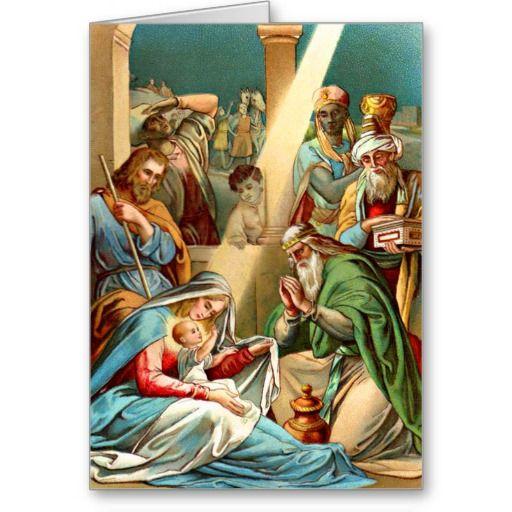 Baby Jesus Greeting Card Nativity