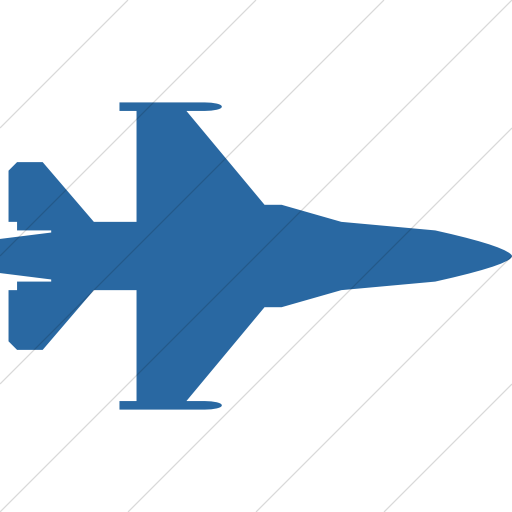 Simple Blue Bootstrap Font Awesome Fighter Jet Icon