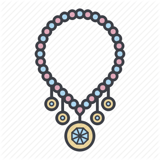 Jewelry, Necklace, Ornament, Shopping Icon