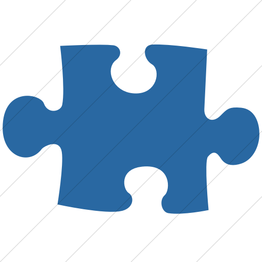 Simple Blue Classica Puzzle Piece Icon