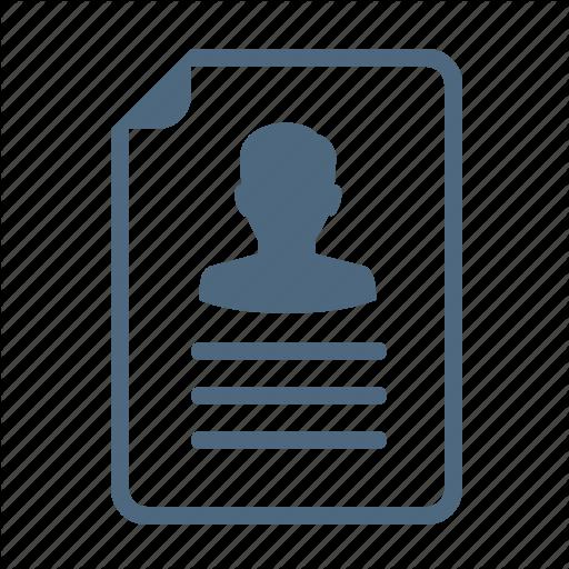 Job Application, Portfolio, Profile, Resume Icon