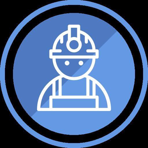 Engineer, Employee, Construction, People, Worker, Stick Man, Job Icon