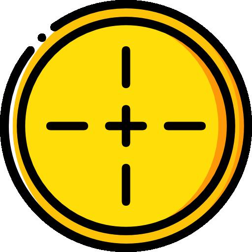 Aim Flat Gold Icon