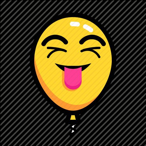 Baloon, Emoticon, Happy, Joke, Mock, Smile Icon
