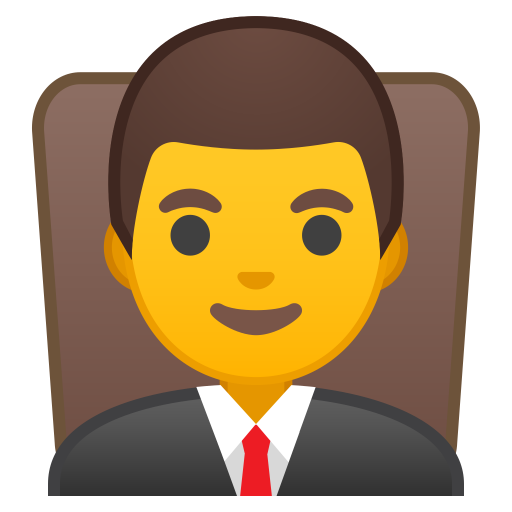 Man Judge Icon Noto Emoji People Profession Iconset Google