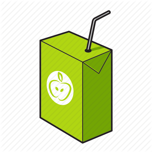 Drink, Juice, Juice Box, Kids Drink Icon