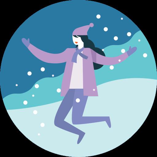 Activity, Fun, Happy, Jump, Presure, Snowfall, Winter Icon Free