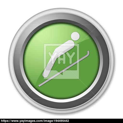 Icon, Button, Pictogram Ski Jumping Image