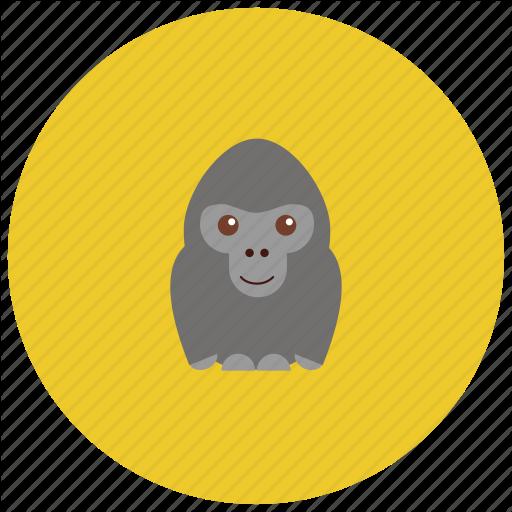 Animals, Cute, Gorilla, Jungle, Smile, Zoo Icon