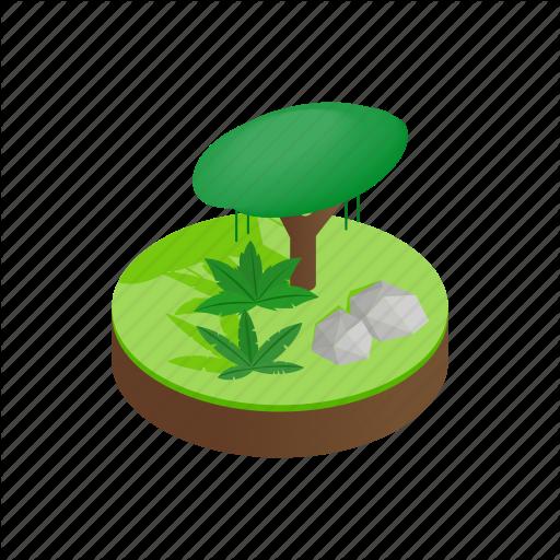Grass, Green, Isometric, Jungle, Landscape, Nature, Tree Icon