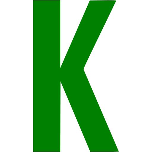 Green Letter K Icon Free Green Letter Icons Worksheet News