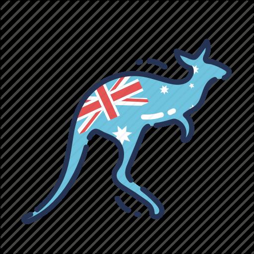 Animal, Aus, Aussie, Australia, Australian, Flag, Kangaroo Icon