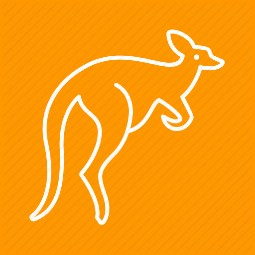 Animal, Australia, Brown, Kangaroo, Kangaroos, Pouch, Wildlife Icon