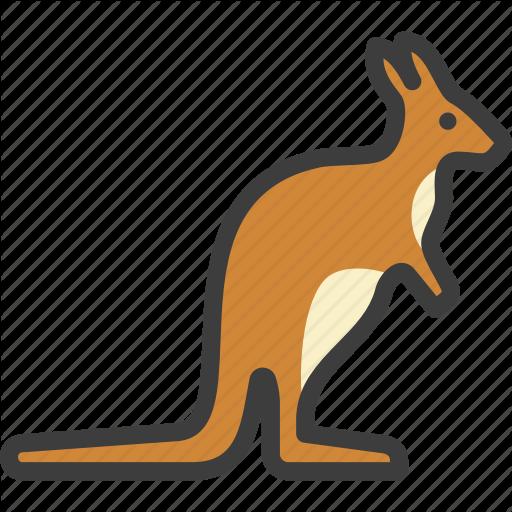 Kangaroo, Wallaby, Wallaroo Icon
