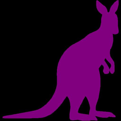 Purple Kangaroo Icon