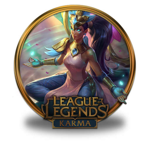 Karma, Lotus Icon Free Of League Of Legends Gold Border Icons