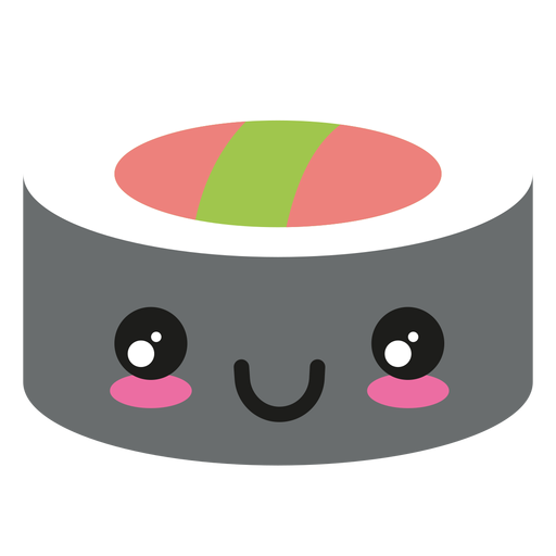 Happy Kawaii Face Sushi Icon
