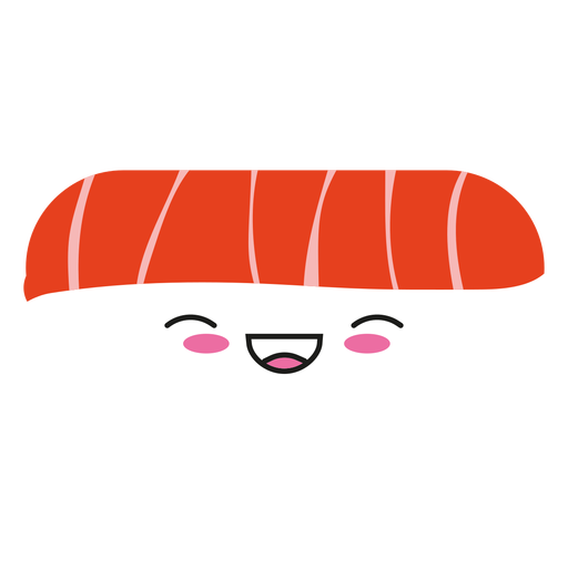 Kawaii Face Tuna Sushi Icon