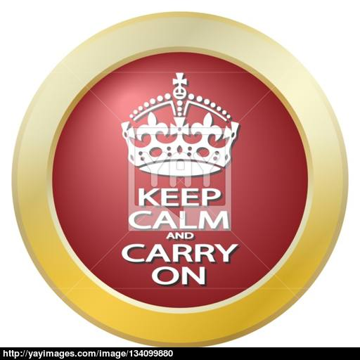 Keep Calm And Carry On Icon Vector