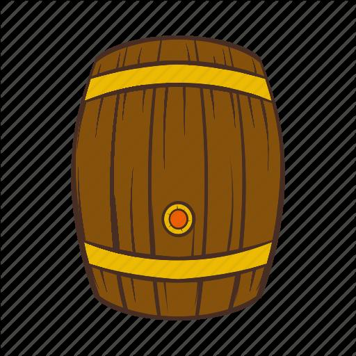 Alcohol, Barrel, Beer, Cartoon, Keg, Old, Wooden Icon