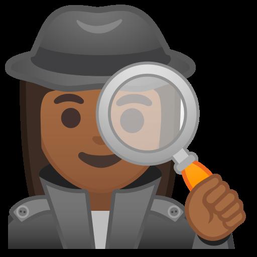 Woman, Detective, Medium, Dark, Skin, Tone Icon Free Of Noto Emoji
